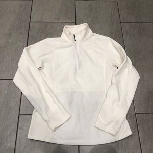 The NorthFace Pullover 3/4 Zip Up White